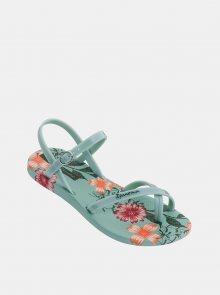 Zelené dámské květované sandály Ipanema