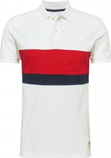 TIMBERLAND Tričko červená / bílá / černá