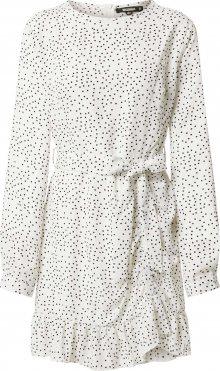 Missguided Košilové šaty bílá / černá
