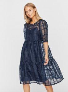Tmavě modré volné šaty VERO MODA Vava