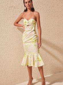 Trendyol krémové vzorované šaty - XS