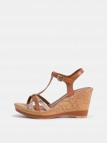 Tamaris hnědé boty na klínku - 36