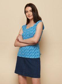 Tranquillo modré tričko se vzory - XS