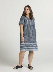 Zizzi modré vzorované šaty  - 46-48