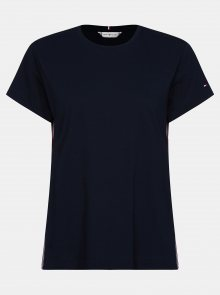 Tmavě modré dámské tričko Tommy Hilfiger