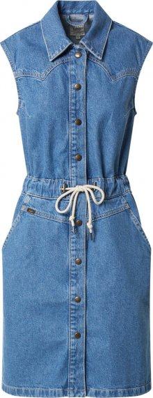 Lee Košilové šaty modrá džínovina