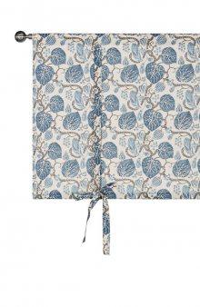 Stahovací záclona Katja se vzorem / modrá