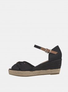 Černé dámské sandálky na klínku Tommy Hilfiger