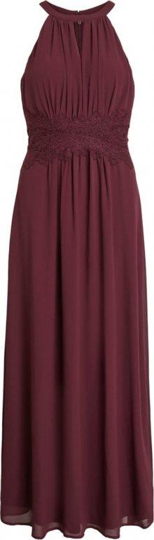 VILA Společenské šaty vínově červená