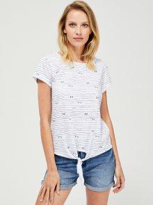 Bílé vzorované tričko Moodo