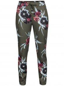 Zelené květované kalhoty VILA Blouson