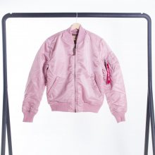 Bomber Silver Pink Ma-1 Vf 59 Men L