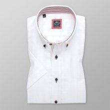 Pánská košile Slim Fit bílé barvy s kontrastními prvky 11931