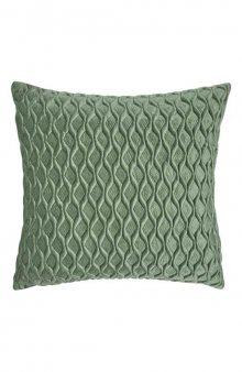 Sametový povlak na polštář / mat. zelená
