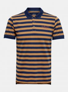 Modro-hnědé pruhované polo tričko ONLY & SONS Even