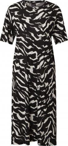 Gina Tricot Šaty \'Lilja\' bílá / černá