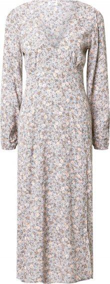 Cotton On Šaty bílá / modrá / světle hnědá / béžová