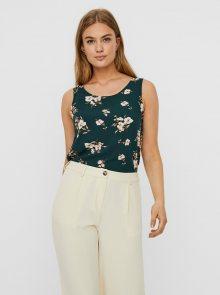Vero Moda zelený květinový top - L