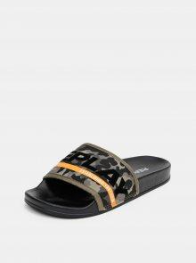 Replay khaki maskáčové pantofle - 36