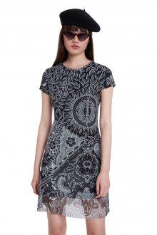 Desigual černé šaty Vest Paris - M