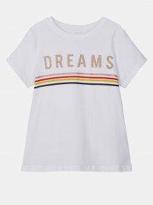 Bílé holčičí tričko name it Franseska