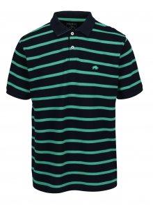 Zeleno-modré pruhované polo tričko Raging Bull