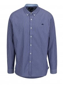 Tmavě modrá pruhovaná stretch košile Raging Bull