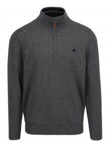 Tmavě šedý svetr na zip Raging Bull
