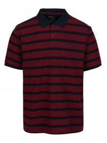 Modro-vínové pruhované polo tričko Raging Bull