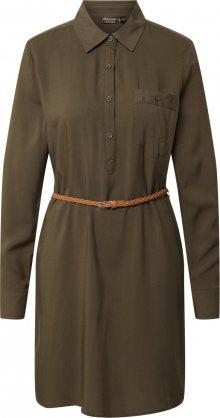 Eight2Nine Košilové šaty khaki