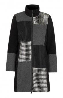 Kabát / černá/se vzorem