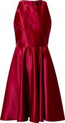 SWING Koktejlové šaty červená třešeň