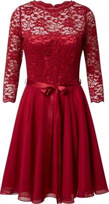 SWING Koktejlové šaty jasně červená