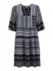 TRIANGLE Košilové šaty bílá / tmavě modrá
