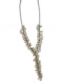 Dámský náhrdelník s perleťovými kameny