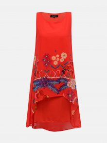 Desigual červené šaty Carnegie - S