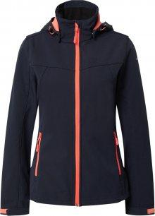 ICEPEAK Outdoorová bunda tmavě modrá / svítivě růžová