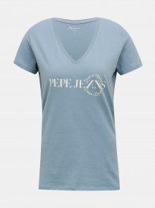 Modré dámské tričko Pepe Jeans