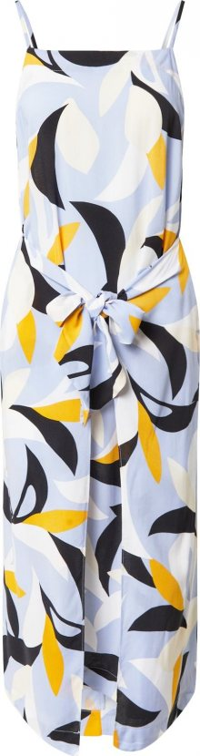 Seafolly Plážové šaty \'Aloha\' kouřově modrá / černá / bílá / oranžová