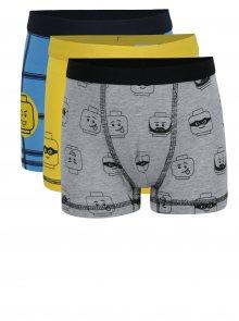 Sada tří klučičích boxerek v modré a žluté barvě Lego Wear Umer