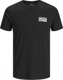 Jack&Jones Pánské triko JJECORP 12151955 Black Slim S