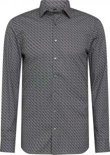 OLYMP Košile světle šedá / tmavě šedá