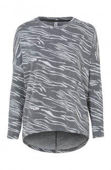 Úpletové tričko s pleteným vzorem Kay / šedá/se vzorem
