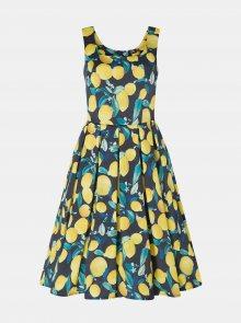 Žluto-modré vzorované šaty Dolly & Dotty - M