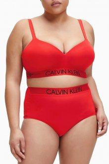 Calvin Klein červený horní díl plavek Demi Bralette Plus Size High Risk Red