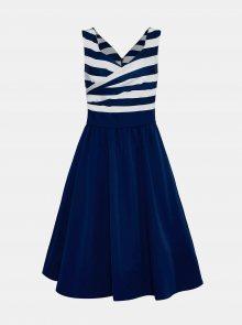 Tmavě modré pruhované šaty Dolly & Dotty - XXL