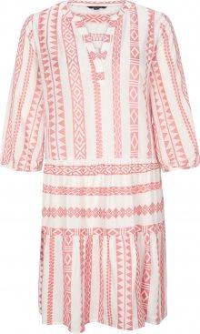 COMMA Košilové šaty pink / bílá