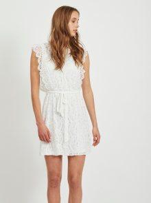 Bílé krajkové šaty VILA - XS