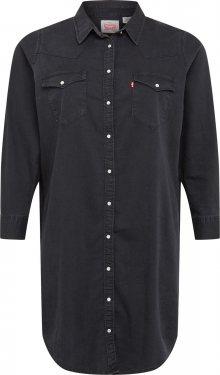 Levi\'s® Plus Košilové šaty \'Western\' černá