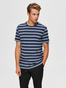 Modré pruhované tričko Selected Homme Sonni